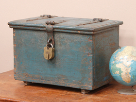 View our  Old Blue Chest from the  Old Wooden Chests, Trunks & Boxes collection