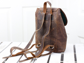 Boho Girls And Boys Mini Leather Backpack  Thumbnail