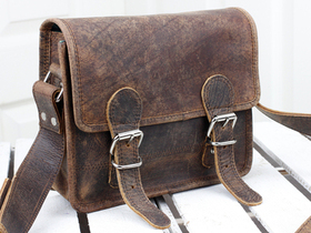 Boys And Girls Micro Leather Satchel 9 Inch Thumbnail