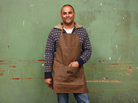 View our  Waxed Canvas Apron from the  Leather Bags & Satchels collection
