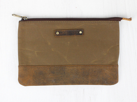 Canvas & Leather Pouch Thumbnail