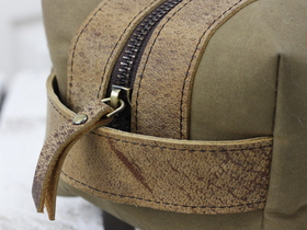 Leather and Canvas Wash Bag Thumbnail