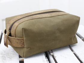 View our  Leather and Canvas Wash Bag from the  Accessories collection
