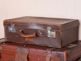 View our  Dark Brown Leather Suitcase from the  Vintage Suitcases collection