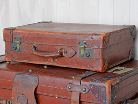 View our  Classic Brown Suitcase from the  Vintage Suitcases collection