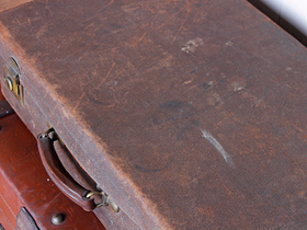 Classic Leather Suitcase Thumbnail