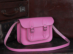 View our Junior Boys And Girls Classic Pink Leather Satchel 11 Inch from the Junior Leather Satchel Bags collection