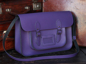 View our Junior Boys And Girls Classic Purple Leather Satchel 15 Inch from the Junior Leather Satchels & Bags collection