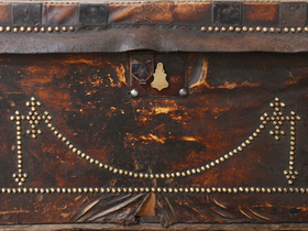 Leather Travel Trunk Thumbnail