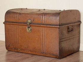 View our  Old Metal Trunk from the  Old Travel Trunks collection