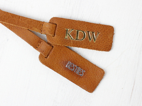 Customisable Bag Tag - Antique Leather Thumbnail