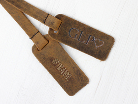 Customisable Bag Tag - Distressed Leather Thumbnail