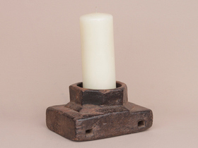 Old Handcarved Candle Holder Thumbnail