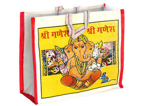 Ganesh Canvas Bag Short Handles Thumbnail