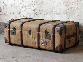 View our  Canvas and Leather Steamer Trunk from the  Sold collection