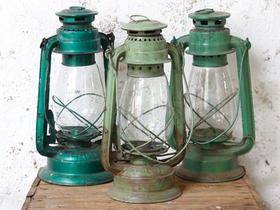 View our  Old Storm Lamp - Green from the  Vintage & Retro Lighting collection