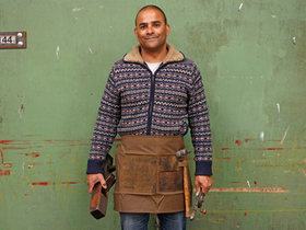 Half Leather and Canvas Apron Thumbnail