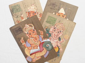 View our  Hand-painted Vintage Indian Postcard - Ganesha from the  Vintage Postcards & Posters collection