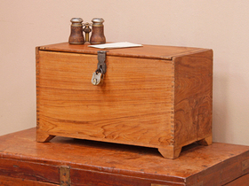 View our  Old Teak Box from the  Old Wooden Chests, Trunks & Boxes collection