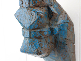 View our  Horse's Head Carving from the  Vintage Art  collection
