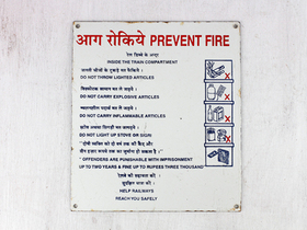 View our  Old Enamel Train Sign - PREVENT FIRE from the   collection