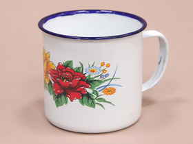 Large Floral Enamel Mugs (Set Of 4) Thumbnail