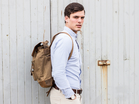 View our Junior Large Leather and Canvas Backpack For Men from the Junior Leather Backpacks collection