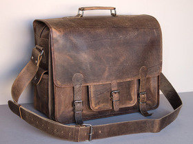 Large Overlander Leather Bag 18 Inch Thumbnail