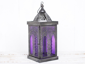 View our  Large Purple Moroccan Style Lantern from the  Lanterns collection