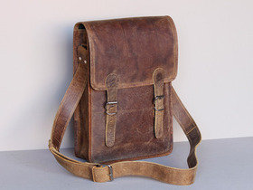 Large Retro Leather Satchel 15 Inch Thumbnail