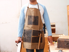 Artisans Leather and Canvas Apron Thumbnail