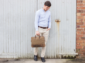 View our Men Slim Laptop Bag For Men from the Men Laptop Bags collection