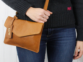 Leather Envelope Clutch Bag Thumbnail