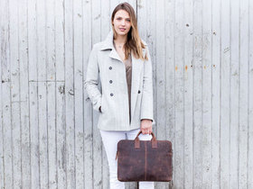 View our  Leather Laptop Bag With Handles from the  Gifts For Women collection