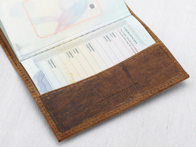 Leather Passport Holder Thumbnail