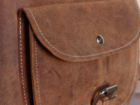 Boys And Girls Leather Saddle Bag 12 Inch Thumbnail