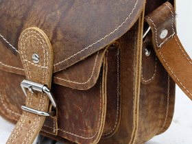 Leather Saddle Bag 7 Inch With Pocket Thumbnail