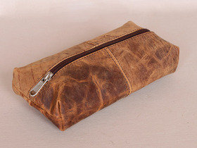 Leather School Pencil Case Thumbnail