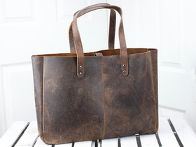 Leather Shopper Tote Bag Thumbnail
