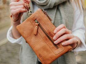 View our  Leather Wristlet Clutch from the  Leather Bags & Satchels collection