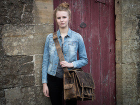 View our Junior Boys And Girls Medium Overlander Leather Satchel 16 Inch from the Junior Leather Satchel Bags collection
