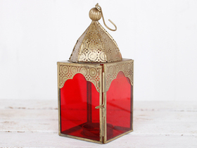View our  Medium Red Glass Lantern from the  Lanterns collection