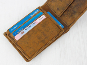 Men's Leather Wallet with Coin Pocket Thumbnail