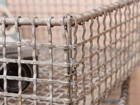Industrial Metal Caged Storage Rack Thumbnail
