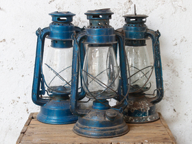 View our  Old Blue Storm Lamp from the  Vintage & Retro Lighting collection