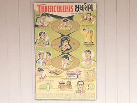 Old Indian Tuberculosis Health Education Poster Thumbnail