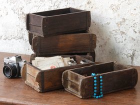 View our  Storage Boxes - Old Brick Moulds from the  Old Wooden Chests, Trunks & Boxes collection
