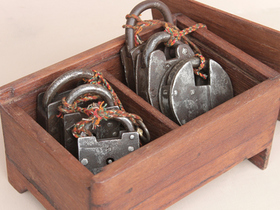 Antique Iron Padlock Collectors Set Thumbnail