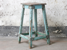 Blue Kitchen Stool Thumbnail