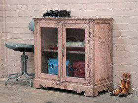 Pink Vintage Glass Cabinet Thumbnail